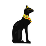 Vector image of an Egyptian cat on a white background - 170274166