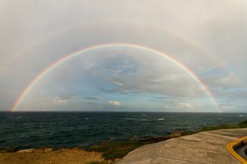 Rainbow on malecon Santo Domingo