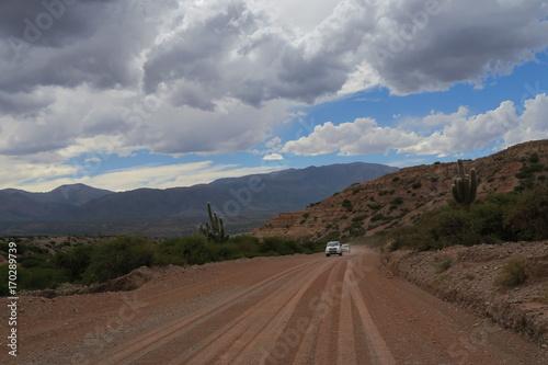 Fotobehang Donkergrijs paysages de la route 40, argentine