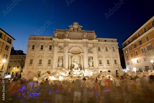 Staande foto Rome Treva Fountains at night