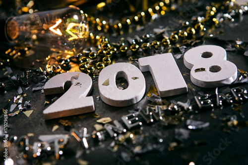 New Year: Angled Shot Of The New Year 2018