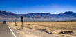 on the road view of Nevada arid land in winter
