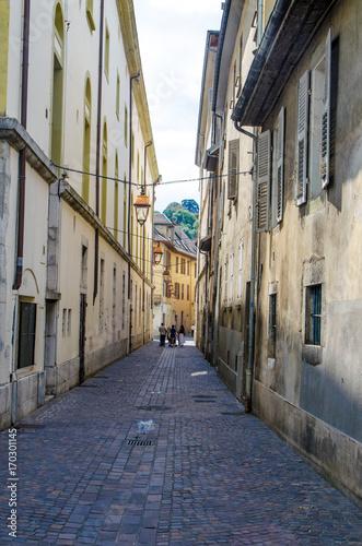 Fotobehang Smalle straatjes Backstreets of Chambery, France
