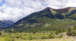 Rocky Mountain view from State Highway 82 near Twin Lakes, Colorado, U.S.A.