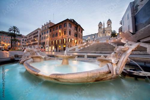 Foto op Plexiglas Rome Beautiful Piazza di Spagna in Rome
