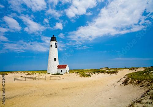 Fotobehang Vuurtoren Great Point Lighthouse, Nantucket Island, Massachusetts