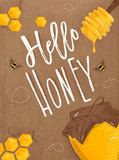Poster hello honey craft - 170328730