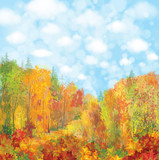 Vector autumn landscape.