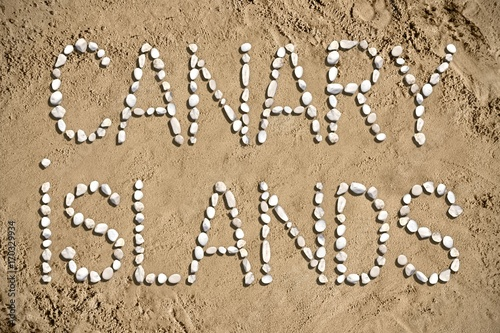 Foto op Canvas Canarische Eilanden Canary Islands - beach, sand, stones