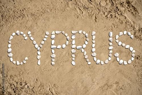 Fotobehang Cyprus Cyprus - beach, sand, stones