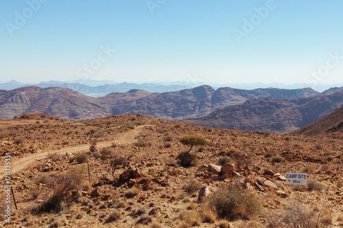 Fotobehang Pool Namibian desert