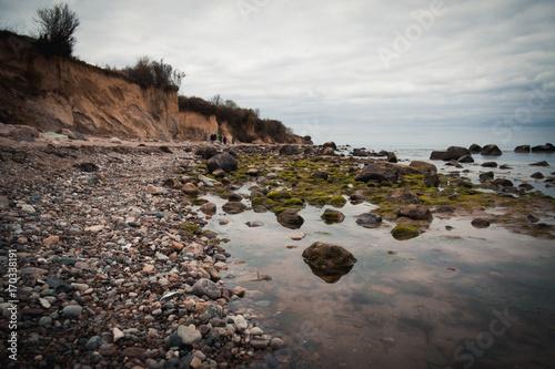 Fotobehang Diepbruine Strand Meer