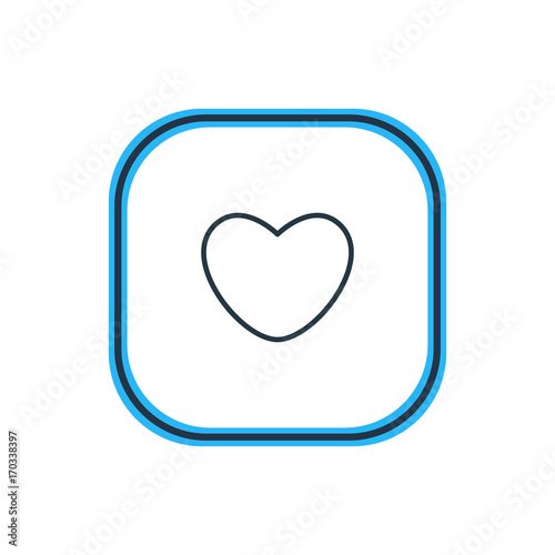Vector Illustration Of Heart Outline. Beautiful Love Element Also Can Be Used As Soul Element.