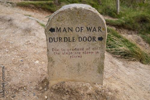 Man of War and Durdle Door in Dorset Poster