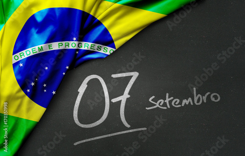 Poster September 7, Brazil Independence Day (Writing in Portuguese)