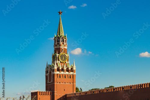 Aluminium Blauwe jeans The Saviour (Spasskaya) Tower and Kremlin walls of Moscow Kremlin