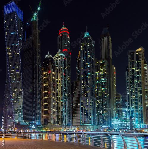 Papiers peints Dubai Dubai marina night emirates