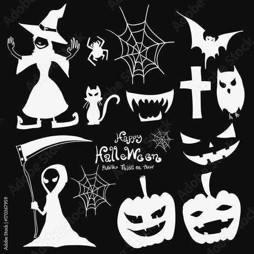 Halloween element icon design vector illustration eps10