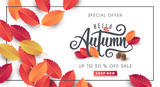 Autumn sale background layout decorate with leaves for shopping sale or promo poster and frame leaflet or web banner.Vector illustration template. - 170379960