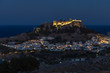 Akropolis von Lindos, Rhodos am Abend