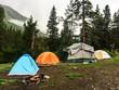 Mountain backcountry camping