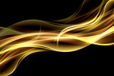 Abstract  fire background flowing effect lighting. Gold blurred color waves design. Glowing neon for your creative projects. - 170393146