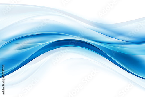 Blue flowing lines background. Awesome waves backdrop.