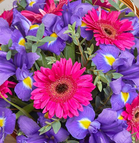 Aluminium Iris nice flower bouquet