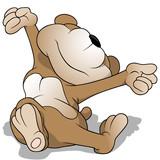 Wake up teddy bear - Cartoon Illustration, Vector