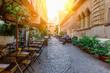 Quadro Cozy old street in Trastevere in Rome, Italy