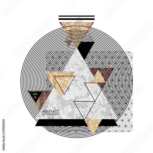 Abstrakcjonistyczny skład z textured geometrycznymi kształtami. Skład marmurowy. Modny wzór plakatu. Wektorowa ilustracja EPS10