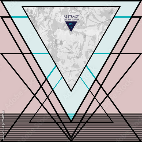 Abstract composition with textured geometric shapes. Marble composition. Fashion design poster. Vector illustration EPS10