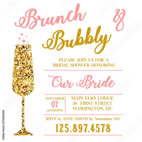 Brunch and Bubble bridal shower