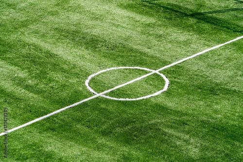 Deurstickers Groene Fußballplatz