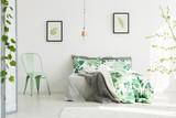 Mint chair in inspiring bedroom
