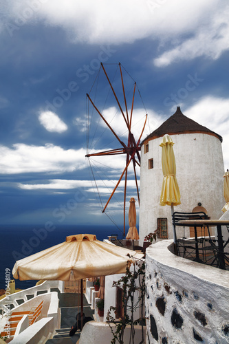 Fotobehang Santorini View of the city of Oia. Santorini Island in Greece