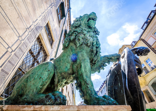 Fotobehang Lion bavarian lion