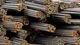 pile of rusty steel bar - 170452927