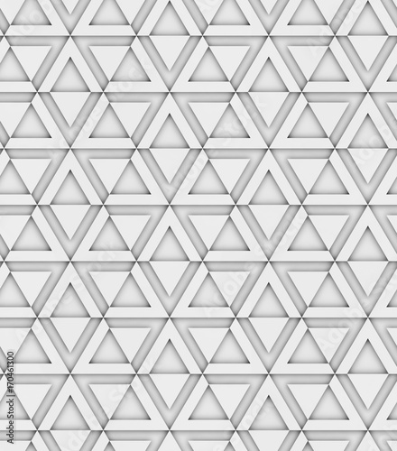 3d geometric decorative seamless pattern, triangles and hexagons, design background - 170461300