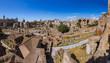 Roman forum ruins in Rome Italy