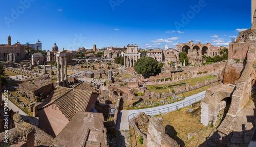 Foto op Plexiglas Rome Roman forum ruins in Rome Italy