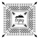 Decorative boho pattern background over white background vector illustration graphic design - 170466542