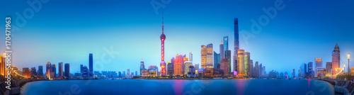 Staande foto Shanghai Shanghai skyline cityscape