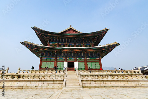 Gyeongbukgung palace also known as Gyeongbokgung Palace or Gyeongbok Palace, was the main royal palace of the Joseon dynasty Poster