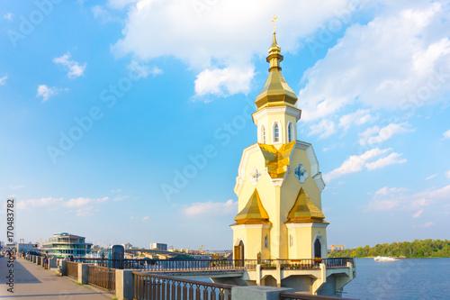 Fotobehang Kiev church near the river