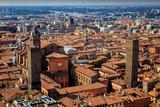 View of Bologna from Due Torri, Bologna, Italy