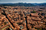 View of Bologna from Due Torri, Bologna, Italy