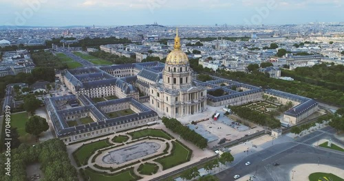 Fridge magnet Les Invalides Aerial Paris France Cityscape