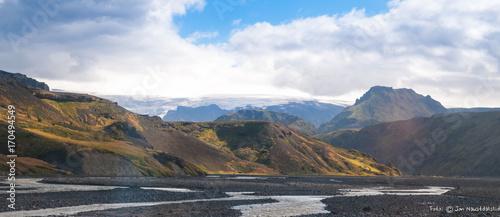 Fotobehang Cappuccino Scenic landscape, Iceland