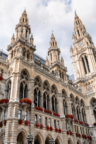 Towers of Vienna City hall, Austria